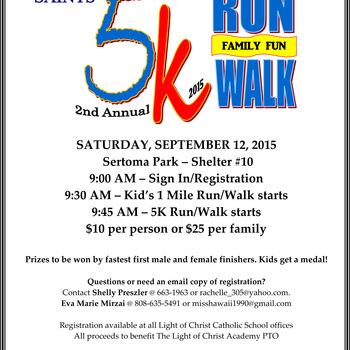 5K Family Fun Run/Walk