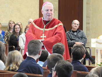 St. Albert the Great School showcases service, faith during bishop's visit