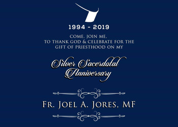 Fr. Joel Jores, MF: 25th Sacerdotal Anniversary Celebration
