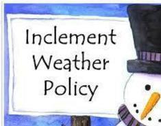 Updated WWPR Inclement Weather Policy