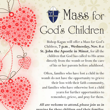 MASS FOR GOD'S CHILDREN CANCELED BY DIOCESE