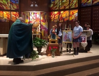 Presentation and blessing of Icon
