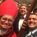 Confirmation Candidates take selfie with Archbishop Hughes