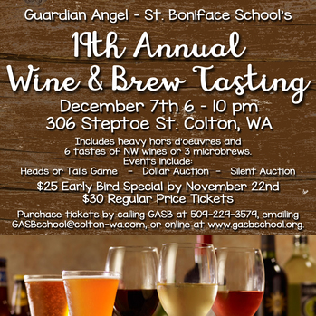19th Annual Wine and Brew Tasting: Guardian Angel-St Boniface School