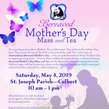 Bereaved Mother's Day Mass and Tea