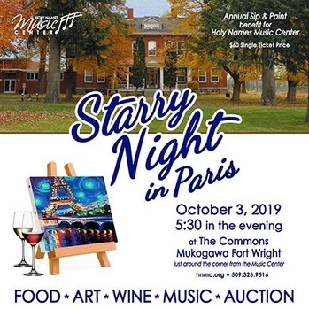 Starry Night in Paris: Annual Sip & Paint Fundraiser - Holy Names Music Center