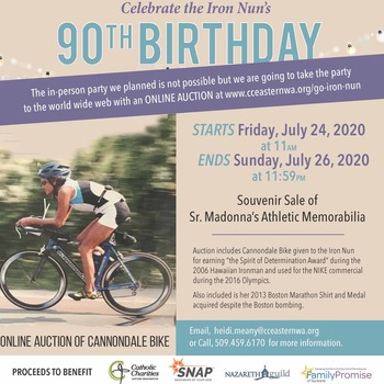 Celebrate the Iron Nun's 90th Birthday Auction to Benefit Local Charities