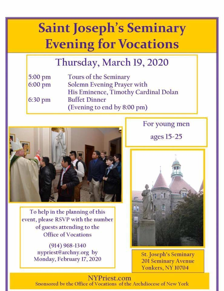 Evening for Vocations