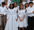 Donations of First Communion attire for the children of Haiti