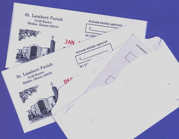 Your Parish Information and Offertory Envelope Printing