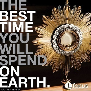 First Friday Adoration (note ending time)