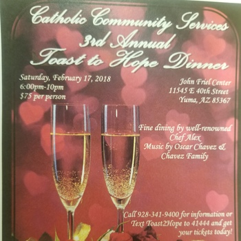 Yuma Catholic Services 3rd Annual Toast to Hope Diner
