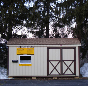 St. Pauly Used Clothing Drop-Off Shed
