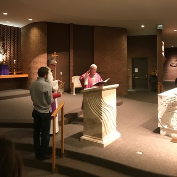 Parish Welcomes New Ambo and Presider's Chair