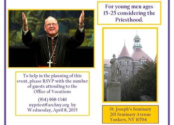 Vocations Dinner for Young Men