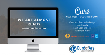 Coming Soon: Curé of Ars Church New Website
