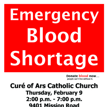 Curé of Ars Blood Drive