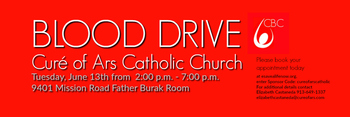 The Blood Drive is coming to Curé