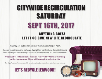 Citywide Recirculation - Event will take  <div>   place in city of Leawood </div>