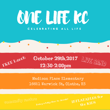 One Life KC - Event will be at  <div>  Madison Place Elementary </div>