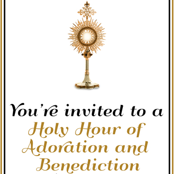 CANCELED -Holy Hour of Adoration and Benediction with the Weekly Novena