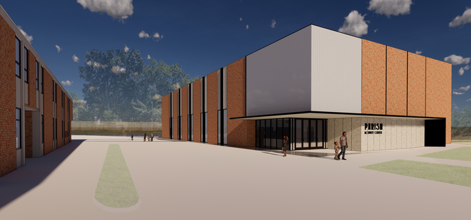 Conceptual Rendering of Parish Activity Center