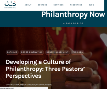 Developing a Culture of Philanthropy