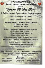 OPERA TO DIE FOR Presented by Opera NY & Sacred Heart of Jesus Church