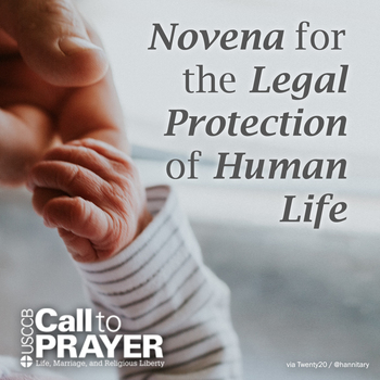 NOVENA for the Legal Protection of Human Life- after 8:30 AM Mass