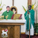 Father Zack installed as pastor by Bishop Spalding