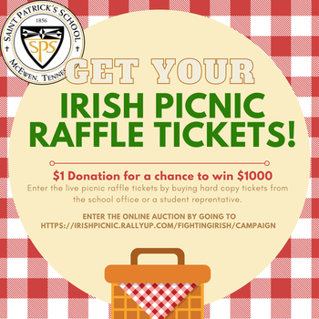 Irish Picnic Raffle Tickets Available Online! (click here)