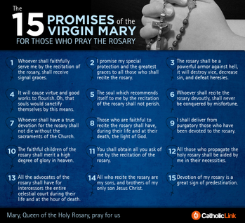 October is the month of the Holy Rosary (click here)