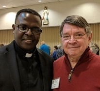 Father Zack Kirangu appointed chaplain of Williamson County Serra Club chapter.
