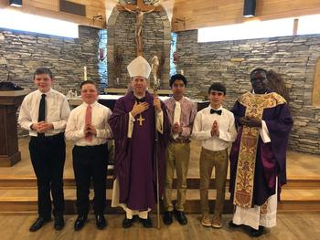 Congratulations to the young men who were confirmed on March 17