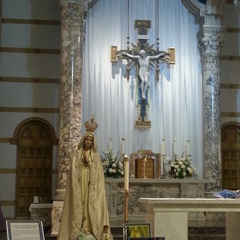 The U.N. Statue of Our Lady of Fatima Visits St. Anthony
