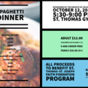 Oct 12: Spaghetti Dinner to benefit St. Marianne Cope Parish's Faith Formation Program