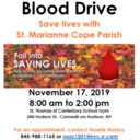 Blood Drive - Nov. 17, 8 am - 2 pm