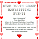 Feb 14: STAR Youth Group Babysitting Event