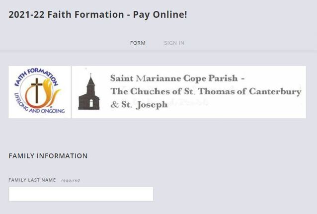 Click to Pay Online - https://ff-registration.stmariannecope.com