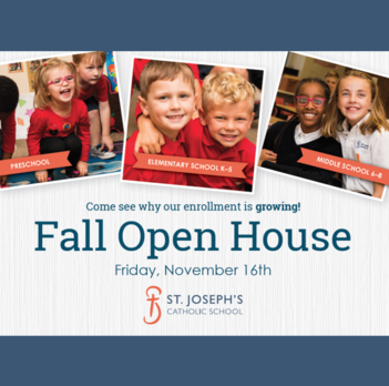 Fall Open House -Thank You!