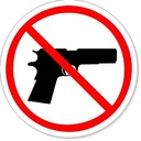 Parishioners are NOT permitted to carry or bring guns onto the Church grounds