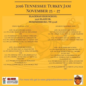 2016 Tennessee Turkey Jamm