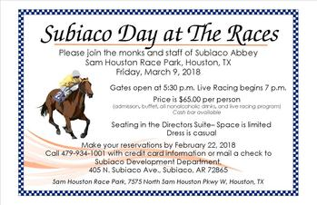 SUBIACO EVENT: Sam Houston Race Park