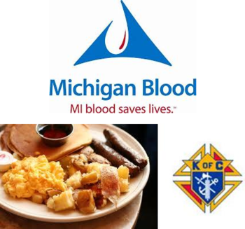 St. Mary's Knights of Columbus Council #11581 Community Breakfast & Blood Drive