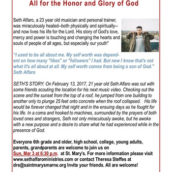 Seth Alfaro - All for the Honor and Glory of God