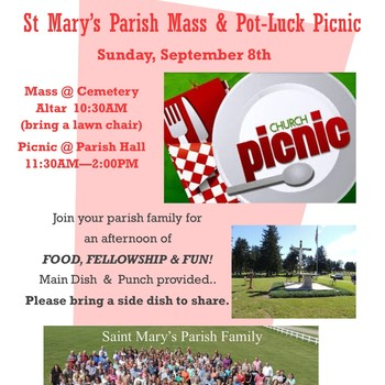 Mass & Pot Luck Picnic