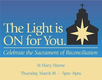 The Light is On for You ~ an evening of penance, individual confessions