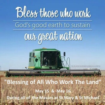 Blessing of those who work the Land