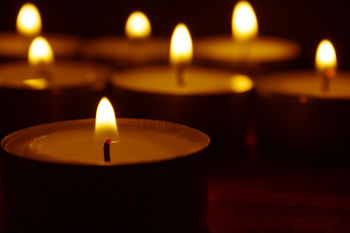 Memorial Candle For All Souls Day Day