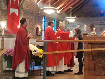 Photo of the celebration of the Sacrament of Confirmation.